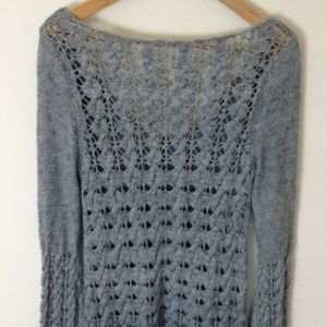Free People Dresses - Free People FP Women Grey Knit  Long Sleeve Dress
